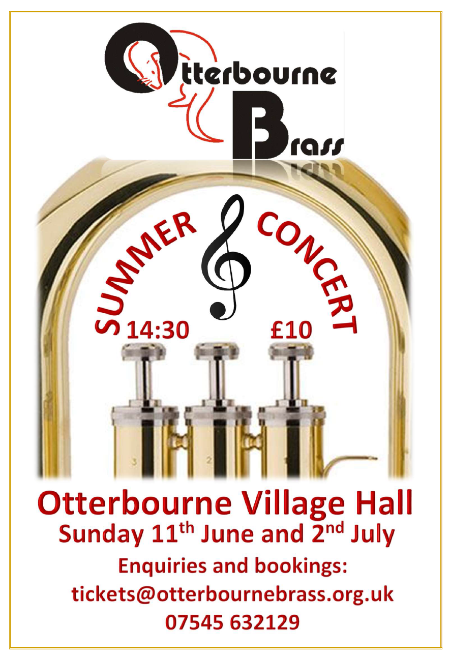 Otterbourne Brass Summer Concerts 2017